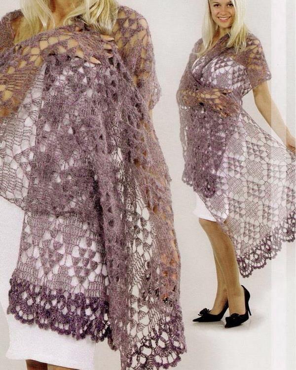 stylish easy crochet crochet wrap scarf pattern for nights