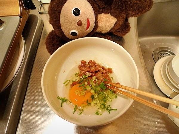 納豆と梅干しの玉子焼きの作り方(2)