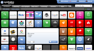 an image of Symbaloo, a site used for a PLE