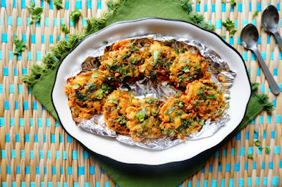 Palak pakora,Palak Pakoda,vegetarian,Indian,breakfast,snacks,appetizer