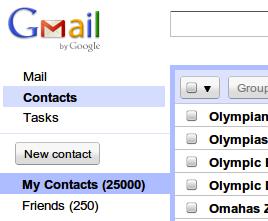 Gmail kontakti