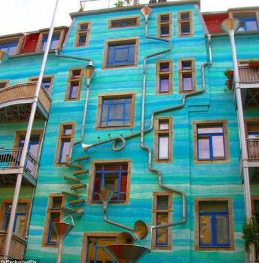 مبنى فى المانيا يعزف موسيقى عند هطول المطر !!!!