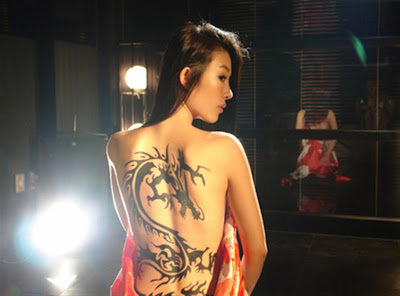 Chinese Back Dragon Tattoo For Women