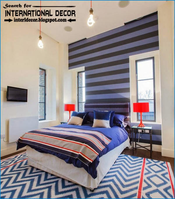 teen boys room decor,cool boys room,striped wall paint