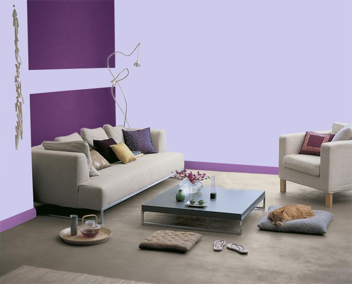 Abcr a studio for Deco salon violet et gris