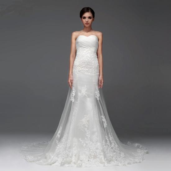 Sleeveless with Dropped waist wedding dress