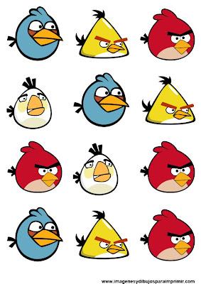 Stickers angry birds para imprimir