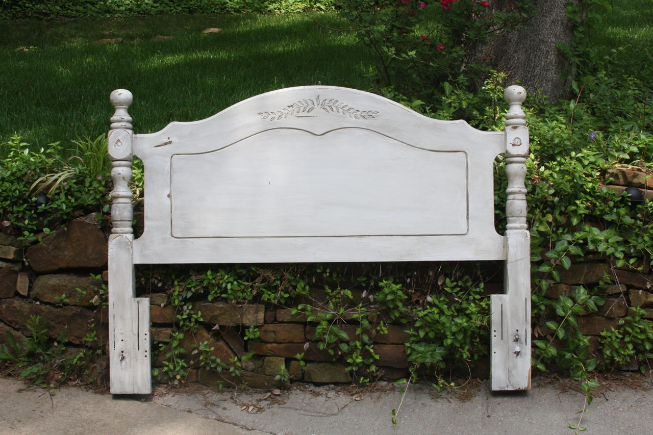 The painted paisley double queen headboard distressed for Painted on headboard