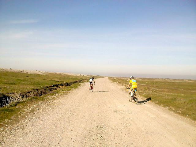 partie cyclocross le long de la digue