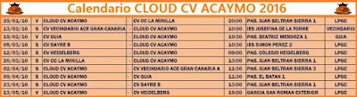 Calendario 2016 CLOUD CV ACAYMO
