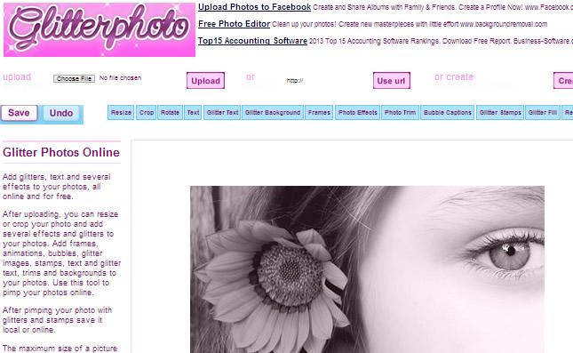 Photo Editor : GlitterPhoto