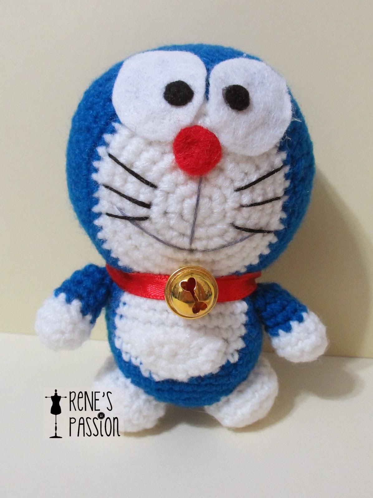Amigurumi Doraemon Tutorial : My Couture Sewing Journey: My amigurumi Doraemon!