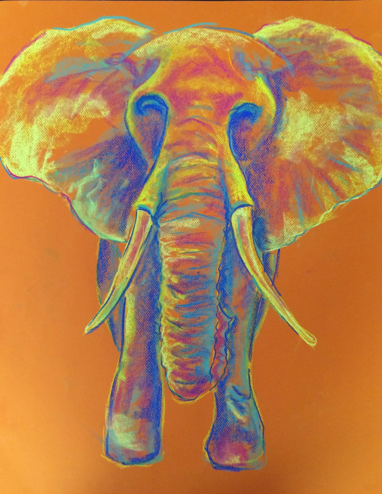 pastel elephant colorful rainbow art draw