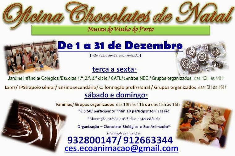 Oficina Chocolate de Natal no Museu do Vinho do Porto