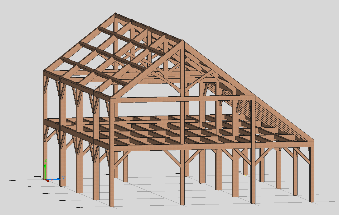 Timber Frame Engineer Douglas Fir Saltbox