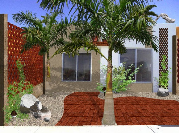 Dise os 2d de jardines fotos renders sobre varias for Frentes de casas con jardines pequenos