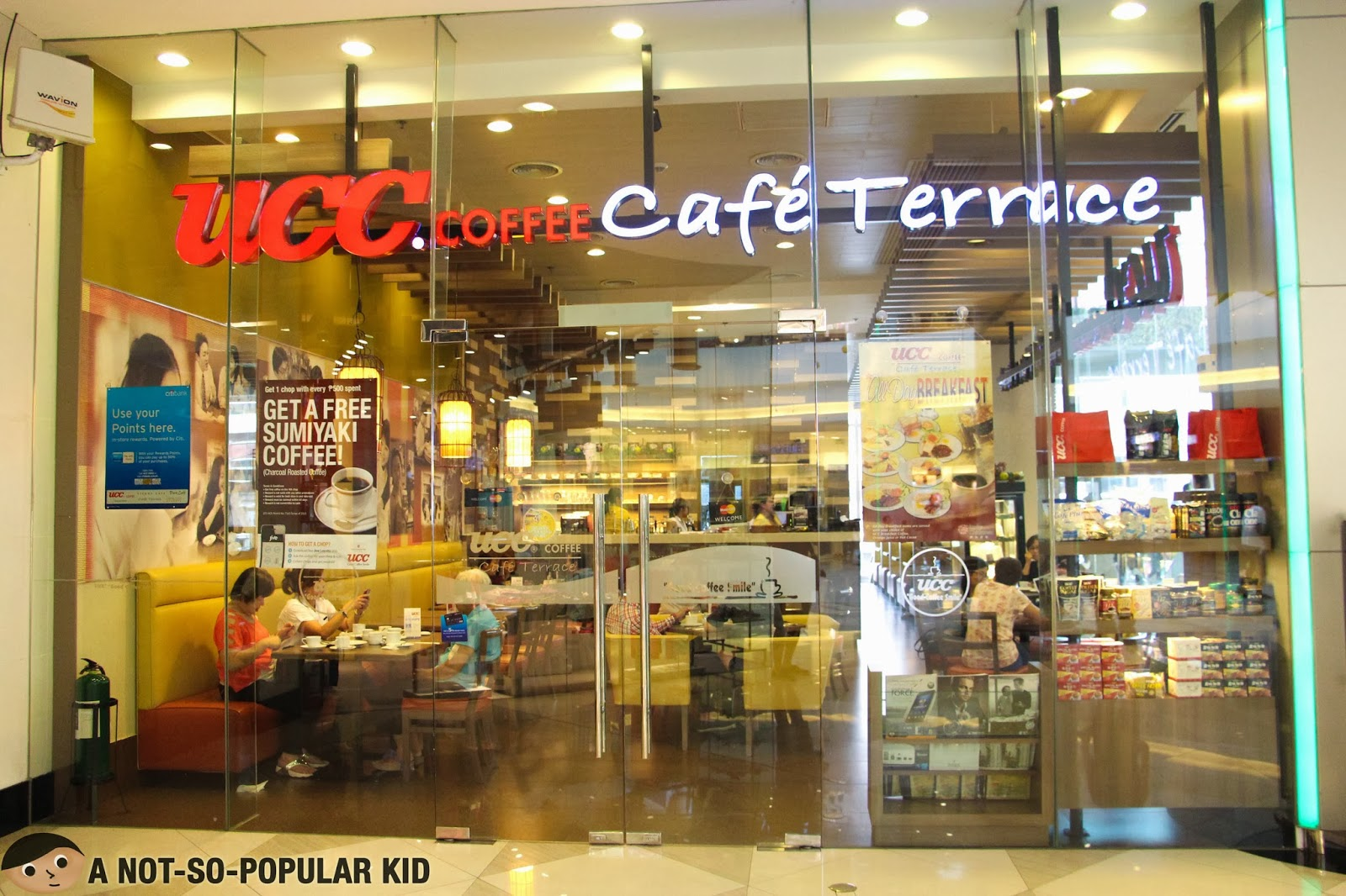 UCC Coffee Cafe Terrace in Lucky Chinatown Mall