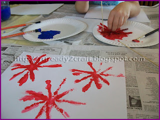 painted fireworks craft