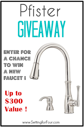 Win a $300 value Pfister Faucet Giveaway!