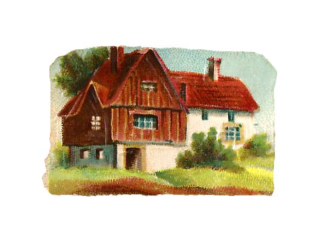 Antique Images Free House Clip Art Victorian Cottage Graphic