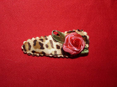 leopard rose haircandy