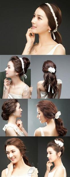 story of wedding hair korean