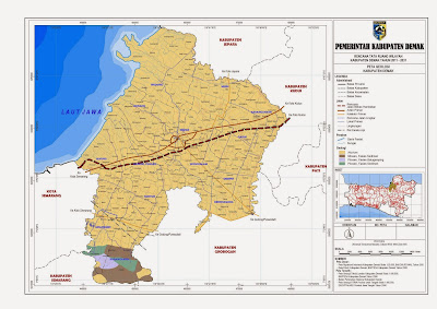 Peta Geologi Kabupaten Demak