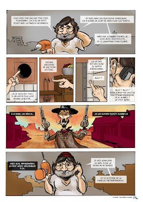 Une petite BD réalisée il y a 5 ans ou plus, je crois, pour un projet collectif pour Fakir; projet qui n'a finalement pas vu le jour. Couleur par Alexandre Godard. GuillaumeNéel©