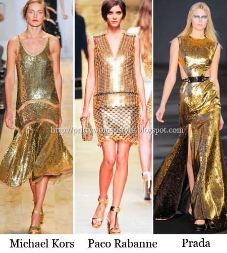 вечерни златни рокли