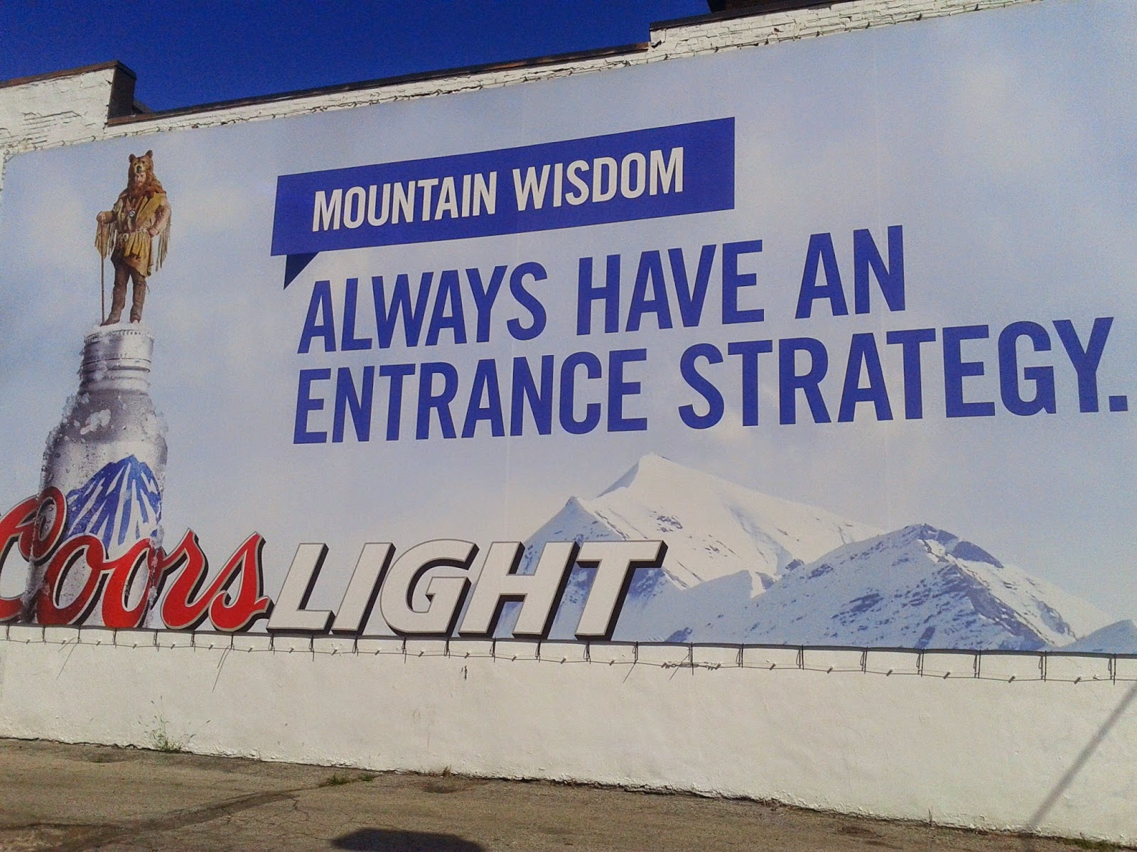 Coors Light advertisement
