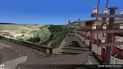 Fastline Simulation - North Staffs Minerals: The steep exchange sidings at the back of Railway Terrace off Brown Lees Road, Knypersley, Biddulph.