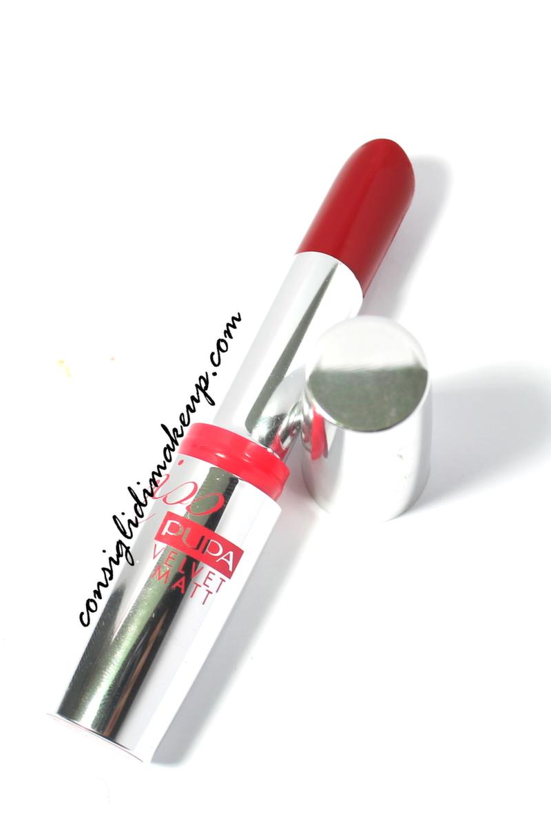 lipstick rossetto rosso miss pupa velvet matt