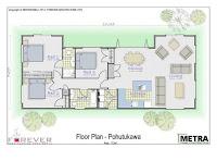 plano de casa rectangular alargada