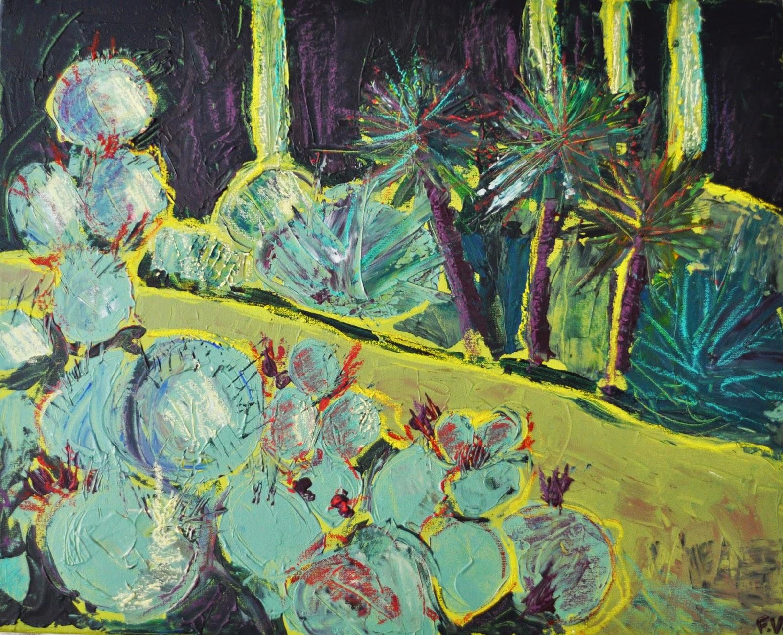 Techniques mixtes peinture acrylique et pastel gras sur toile for Peinture pastel gras
