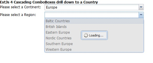 ExtJs ComboBox LoadMask Second time Store Loading Issue