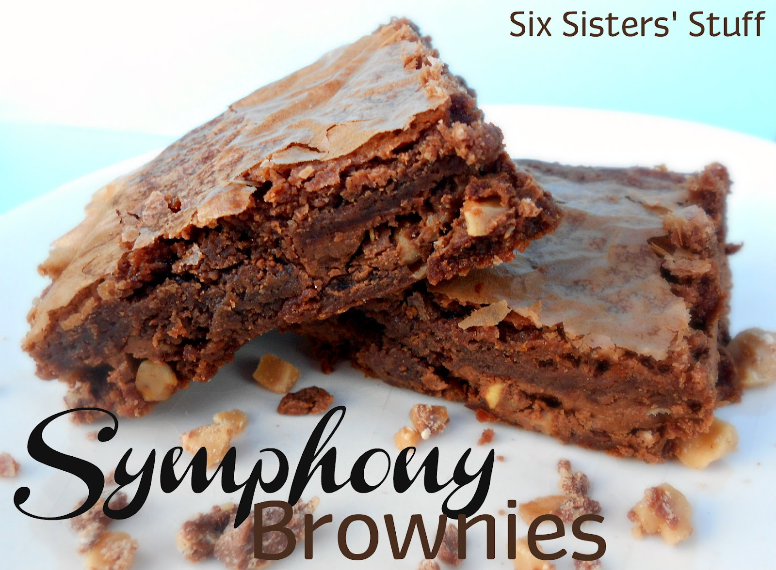 Symphony Candy Bar Brownies | Six Sisters' Stuff