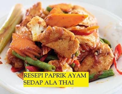 Resepi, Paprik Ayam Ala Thai