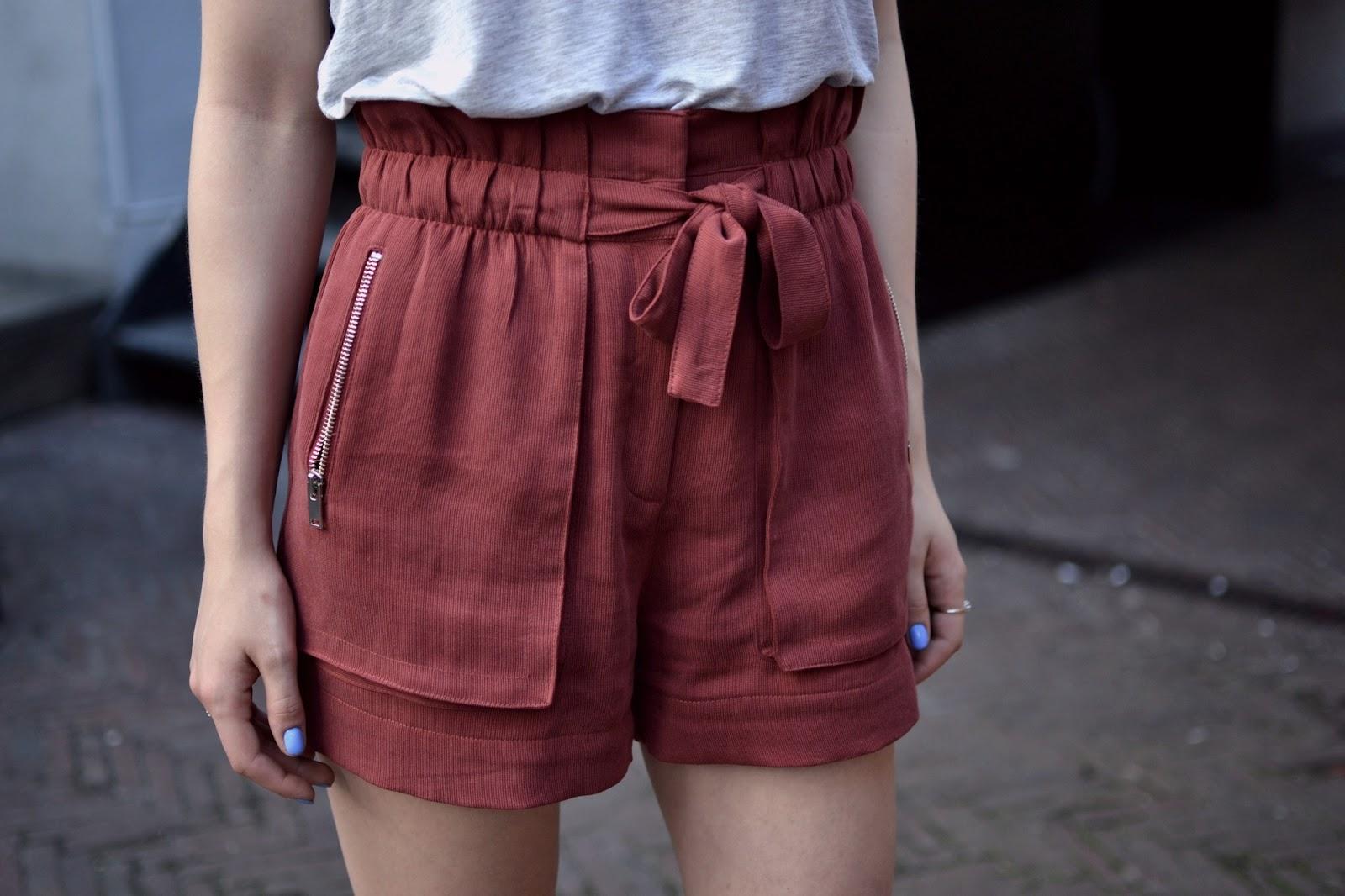 Maroon Zara shorts
