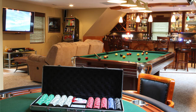 Garage Man Cave With Pool Table : The passionate re designer man cave