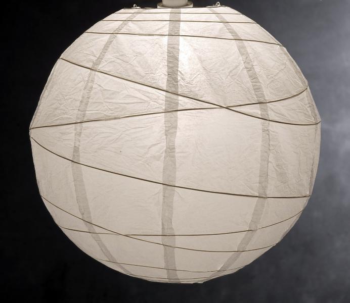 Decorar con l mparas de papel de arroz blanco y de madera - Lamparas de papel de arroz ...