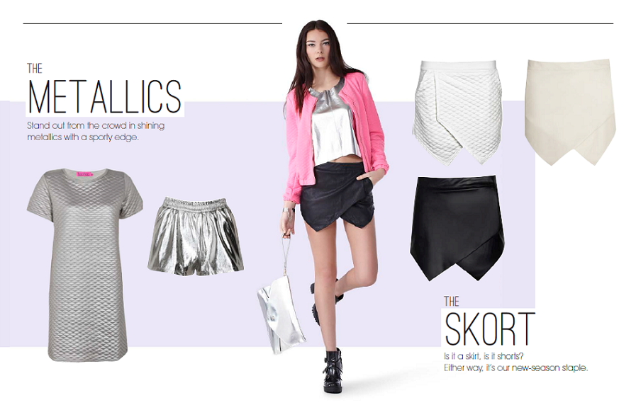 skort, metallics, boohoo, 2014 trends, cute, 2014 autumn, fashion trends