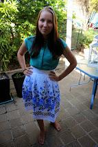 Girl Barefoot Skirt