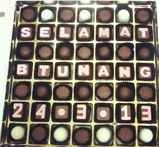 hantaran bertunang 49pcs chocolate praline