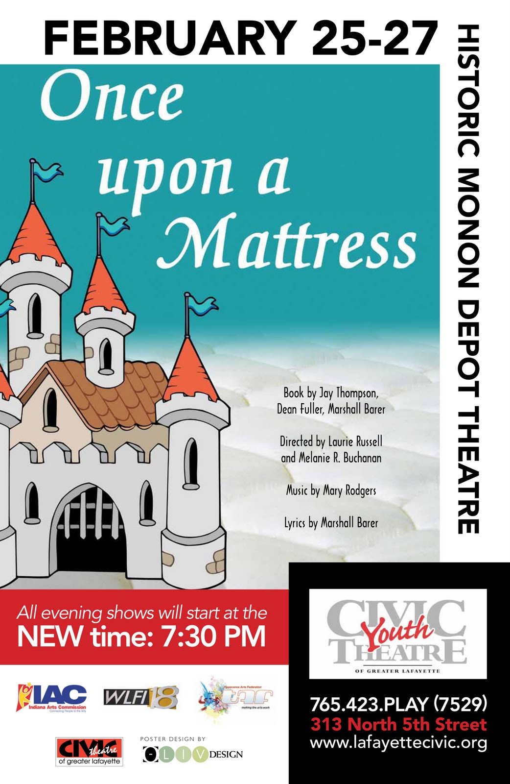 The following photos show the set for Once Upon a Mattress, the second  production of the 2010-2011 Civic Youth Theatre season at Civic Theatre of  Greater ...