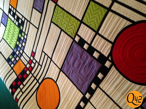FLW quilt interesting quilting