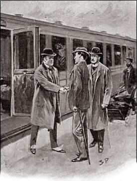 The London express came roaring into the station, and a small, wiry bulldog of a man had sprung from a first-class carriage.