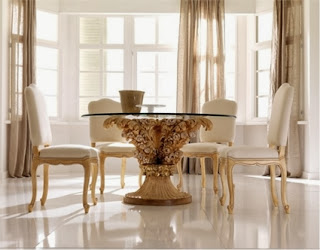 Glass tables for dining