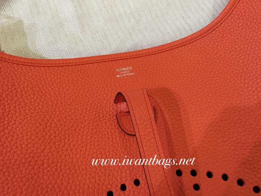 bag hermes price - Evelyne III -Orange Poppy