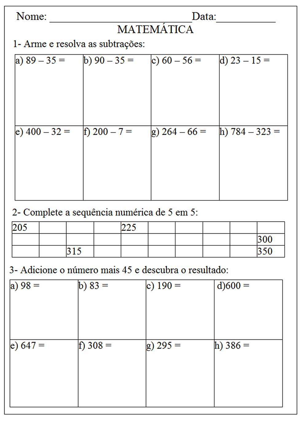 140 EXERC  CIOS DE MATEM  TICA 2   AO 5   ANO ATIVIDADES