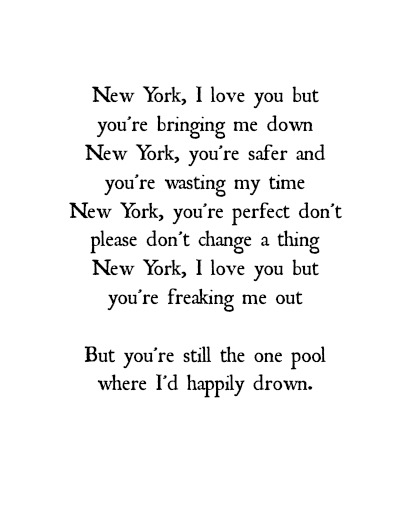 New York I Love You Xoxo Quotes : LCD Soundsystem New York I Love You Lyrics